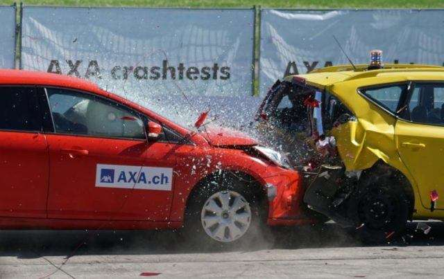 Rear-end Collision Test Accident.