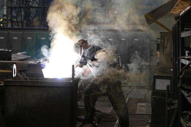 Factory Worker Working Near Dangerous Heat Levels
